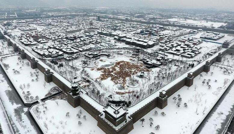 雪落太原古縣城